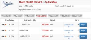 Vé máy bay đi Đà Nẵng sát ngày bay mùa thấp điểm