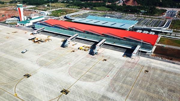 Toàn cảnh Sân bay quốc tế Vân Đồn.