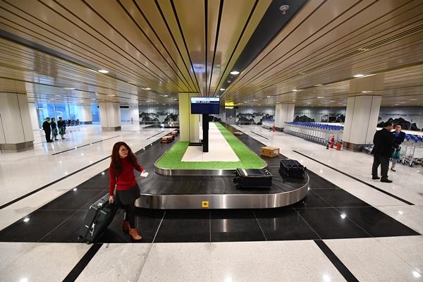 Băng chuyền hành lý hành khách.
